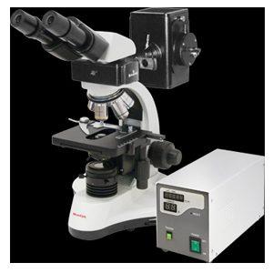 میکروسکوپ فلورسنت سه چشمی